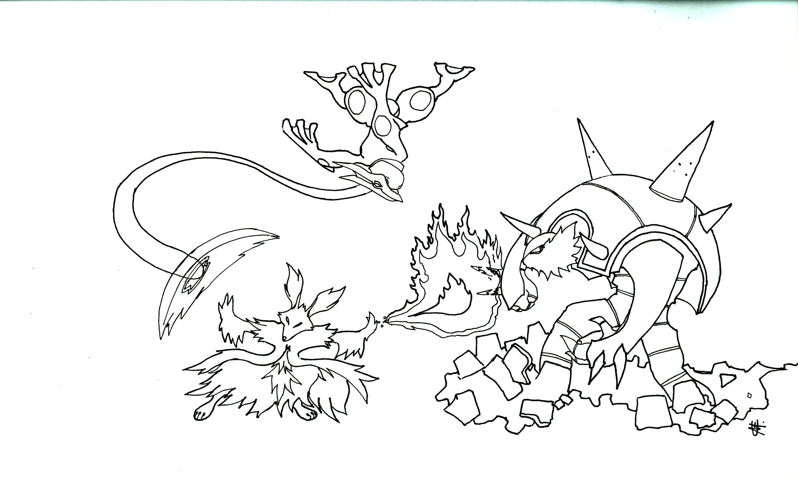 pokemon evolution coloring pages - photo#33