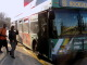 Students getting in the Ride On bus at Montgomery College (Photo Credit: James Chang)