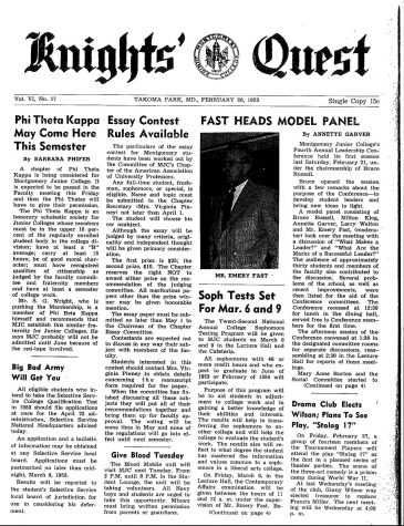 Throwback Thursday: Phi Theta Kappa May Come Here This Semester