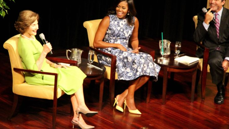 First ladies Michelle Obama and Laura Bush Cross Party Lines in Support of American Troops and Veterans