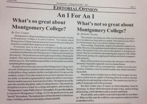 Throwback Thursday: What's So Great about Montgomery College? What's Not So Great about Montgomery College?