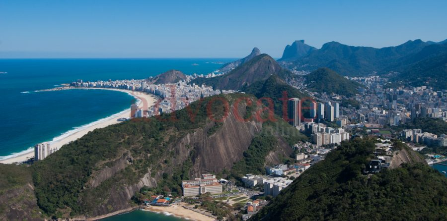 Rio+de+Janeiro+viewed+from+the+summit+of+the+sugar+loaf+mountain.++Rio+has+an+interesting+mix+of+subtropical+climate+and+bustling+metropolis+with+a+population+of+over+four+million+citizens.