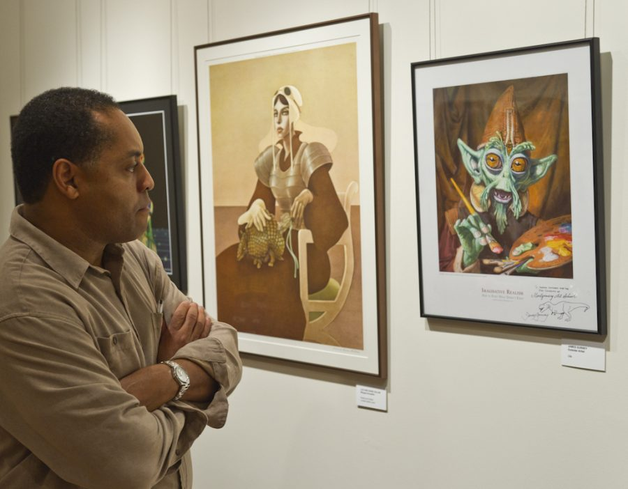 Towson+professor+and+member+of+the+D.C.+Illustrators+Club%2C+George+Tuggle.+--+Photo%3A+Stephen+Weigel