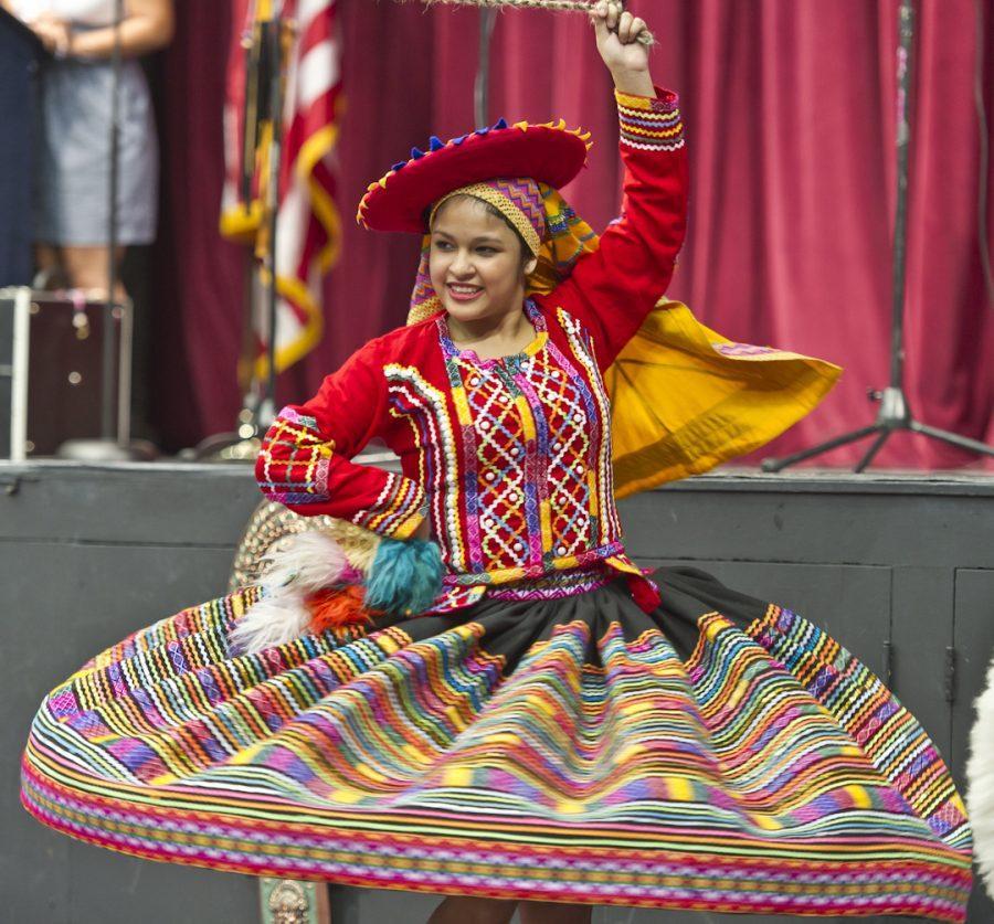 Johana+LaCherre+performing+a+traditional+Peruvian+dance+called+Valicha