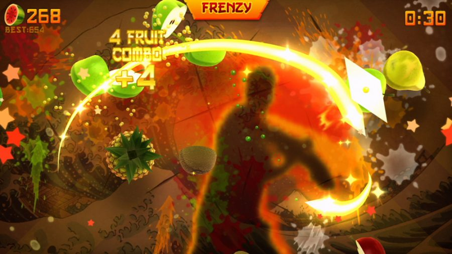 Fruit+Ninja+was+so+popular%2C+it+was+recently+ported+to+the+Xbox+360+with+Kinect+functionality.