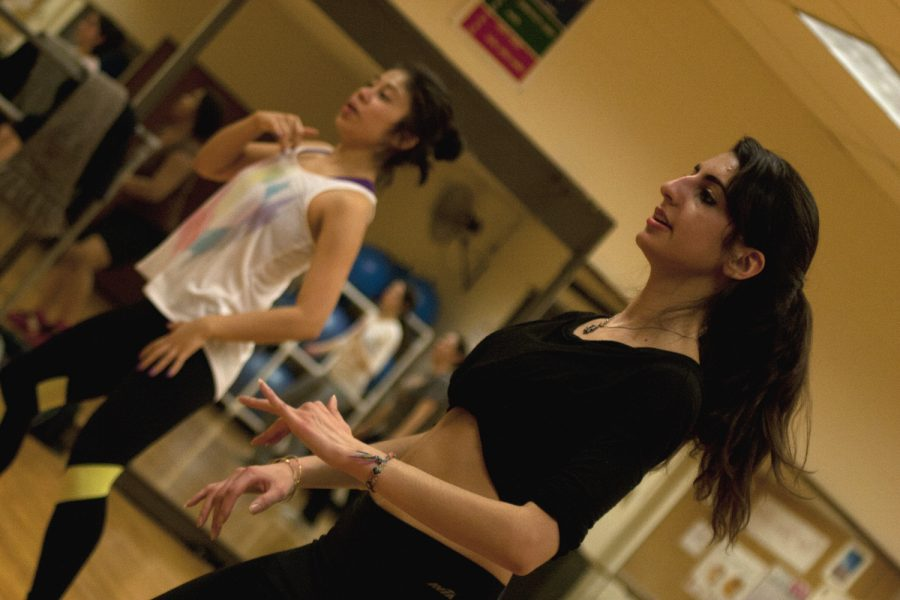 Nancy Villegas (left) and Yasmin Akhlaghi at a Zumba Club meet