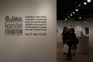 Exploring the exhibit of the MC art gallery