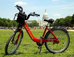 An example of the bikes that will be available for rent with the program (Credit: montgomerycountymd.gov)