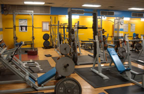The weight-rrom in the Rockville gym has plenty of different machines to use. The hours, however, are not ideal.