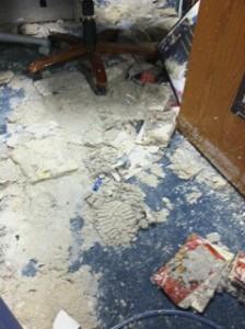 The floor at the Humanities building (Photo credit: Nadia Palacios)