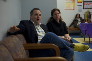 Professor Gregory Sember (left) and Mary Sierra (right) (Photo credit: Adriano Cassoma)