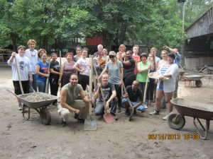 The MC Study Abroad Program completed a service learning project at Youth Farm. (Photo Credit: Greg Malveaux)