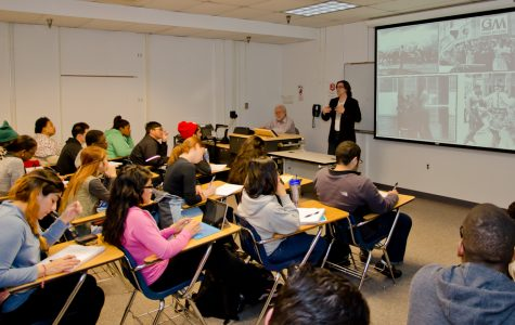 Dr. Reidl informs MC students about the civil rights movement of the 1960s. (Photo Credit: Devaughn Phillips)