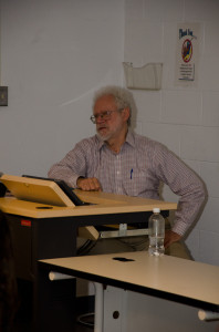 Dr. Smith lectured on the the civil rights in the U.S. as part of Black History Month (Photo Credit: Devaughn Phillips).