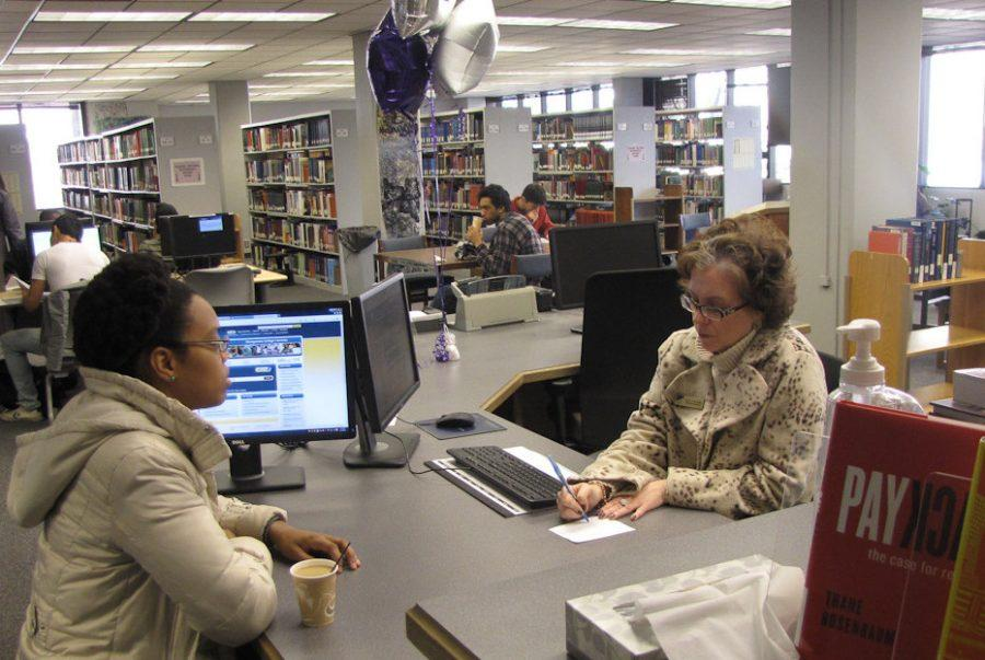 Students have already found it easier to work in the library with the new renovations.