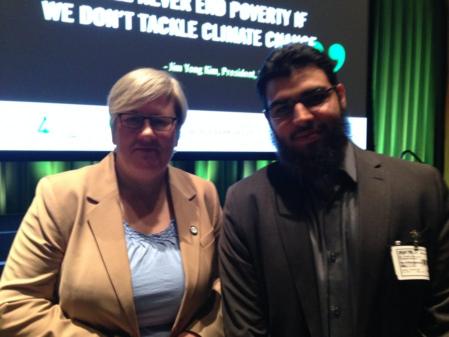 World Bank Vice President Rachel Kyte and MC student Suleiman Khan