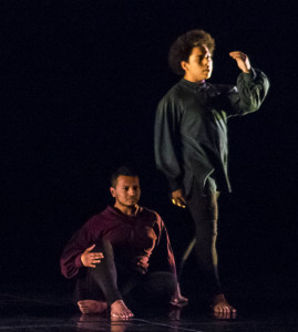 "Kevin Ortiz-Arias and Luis Gutierrez in ""Next of Kin"" (Photo Credit: Emmanuel Jean-Marie)"