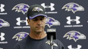 Harbaugh addressed the media Monday evening regarding the Ravens' decision