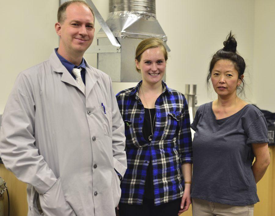 Professor+Craig+Benson%2C+Julie+Brylanwski+and+Kyoko+Marrone.