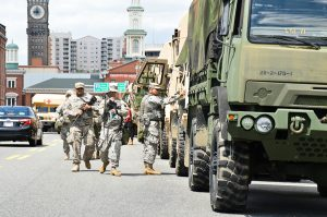 Heavy National Guard Presence In Baltimore