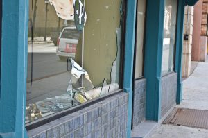 East Baltimore Store has Glass Broken