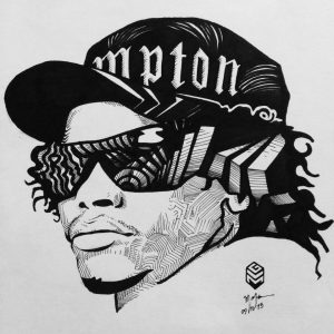 """Artwork based on the film """"Straight Outta Compton,"""" by Gabriel Mafra."""