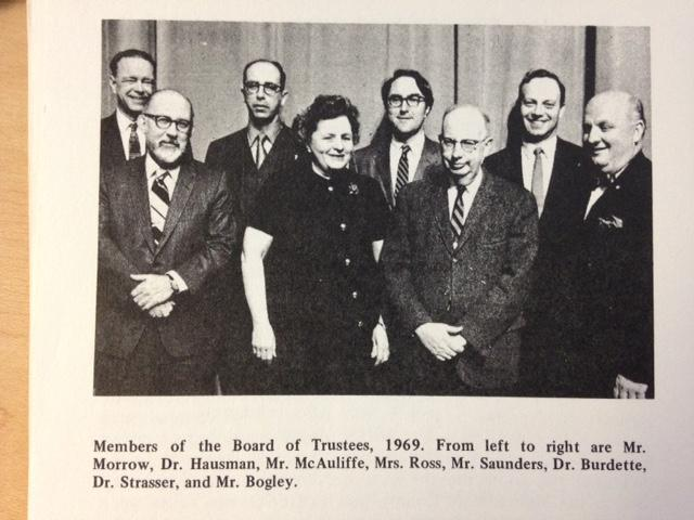 The board of trustees in 1969, from the book
