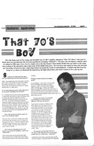Montgomery Advocate newspaper interview with Ashton Kutcher