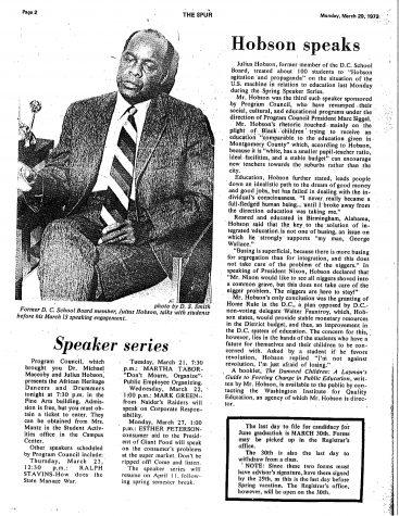 Throwback Thursday: Hobson Speaks