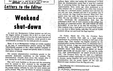 Throwback Thursday: Weekend shut-down--Letter to the Editor