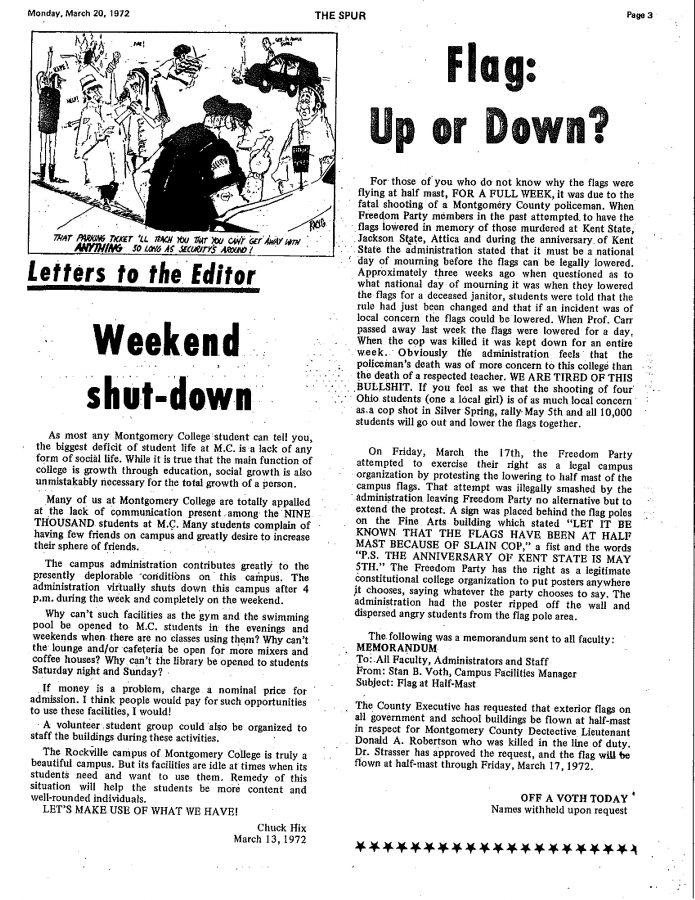Throwback+Thursday%3A+Weekend+shut-down--Letter+to+the+Editor