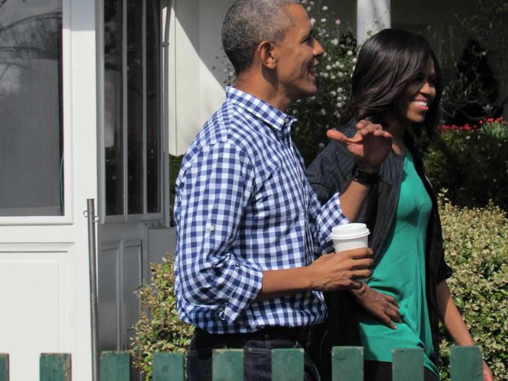 President Obama and the First Lady at the Easter Egg roll photo: Sara Monterroso