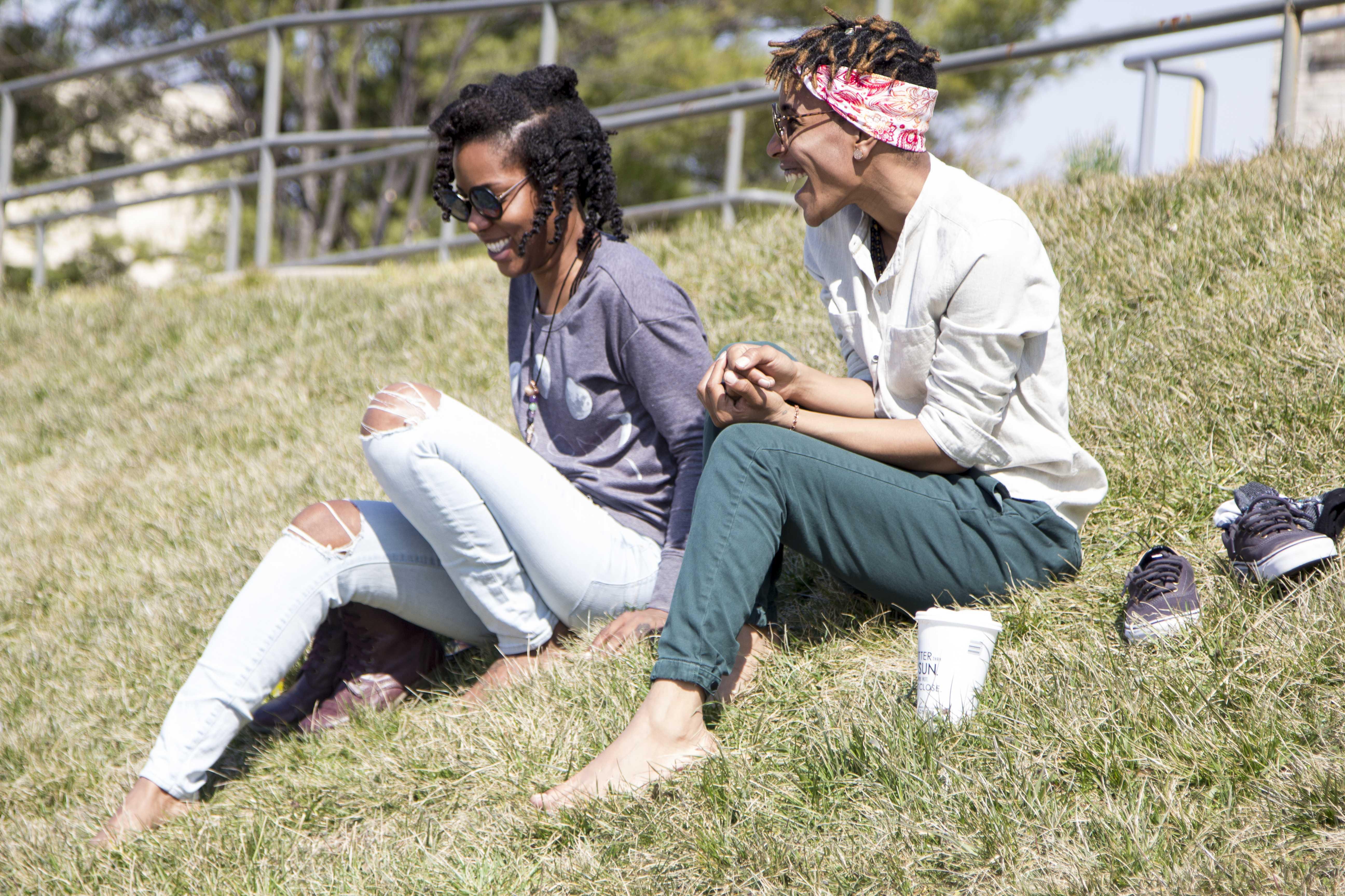 Two MC friends enjoying the nice weather  (photo: Emmanuel Jean Marie)
