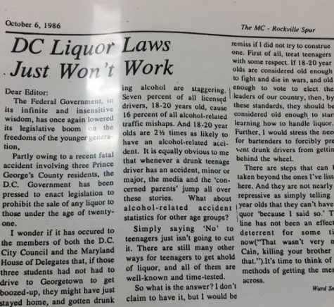 Throwback Thursday: DC Liquor Laws Just Won