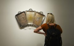 Artist Jaydan Moore's found platter artwork now on view at MC