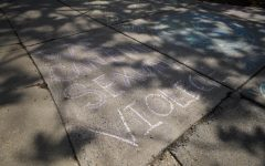 MC Chalks the Walk for Sexual Assault Awareness Month