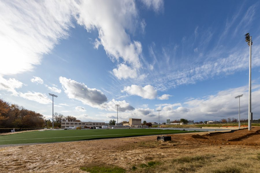 The current construction work of the soccer field. Expecting it to be finished by Spring 2020.
