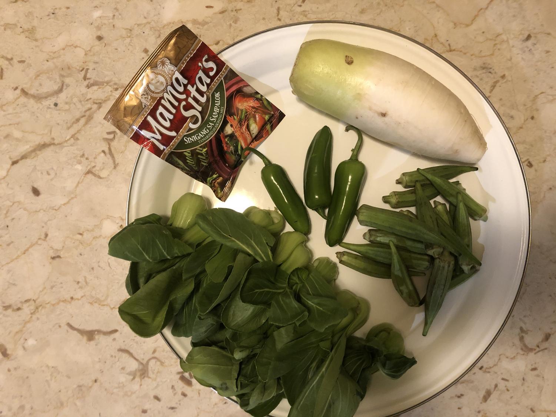 Bok Choy, jalepeño, okra, chinese radish and tamarind seasoning.