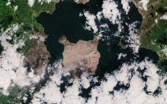 Satellite image of Taal Volcano