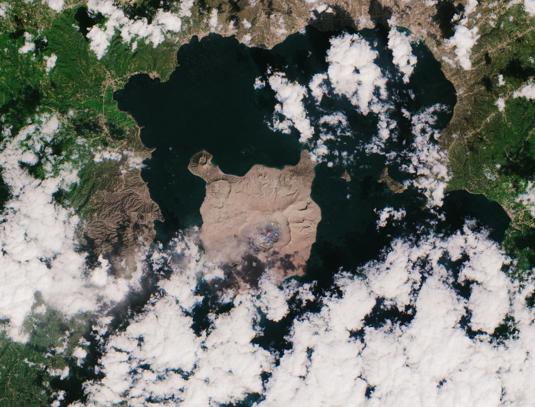 Satellite+Photo+taken+of+Taal%27s+eruption+on+Jan.+23.